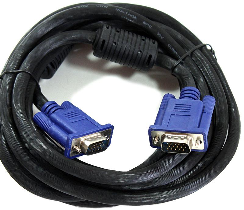VCOM VVG6448-3MO, Black кабель VGA 15M/15M (3 м)VVG6448-3MO