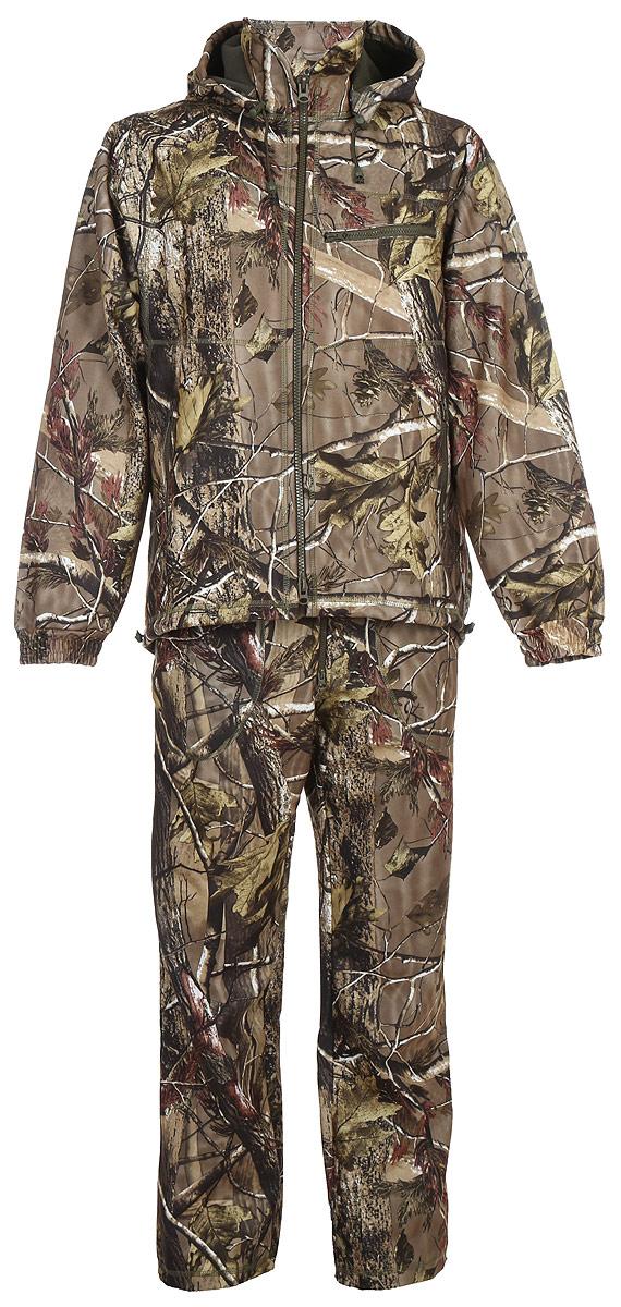 Костюм рыболовный мужской HUNTSMAN Никс Люкс: куртка, полукомбинезон, цвет: светлый лес. n_100_lux-029. Размер 44/46, рост 170n_100_lux-029Непромокаемый и непродуваемый костюм Никс Люкс от Huntsman состоит из демисезонной куртки и полукомбинезона. Изделия выполнены из материалаWindbloсk (Алова + мембрана + Polar Fleece) с использованием плоскошовной технологии пошива.Куртка со съемным капюшоном застегивается на молнию и дополнена 4 карманами на молниях. Манжеты рукавов дополнены резинками. По низу предусмотрена утяжка со стопперами. Полукомбинезон свободного покроя на эластичном поясе и с регулируемыми бретелями спереди застегивается на молнию. Изделие имеет 4 кармана и утяжки по нижнему краю брючин.