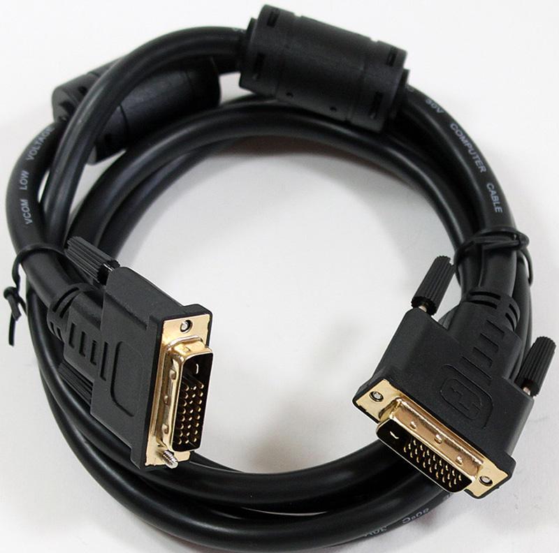 VCOM VDV6300, Black кабель DVI - DVI Dual Link 25M/25M (1,8 м) mcdavid 6300 dual compression knee sleeve
