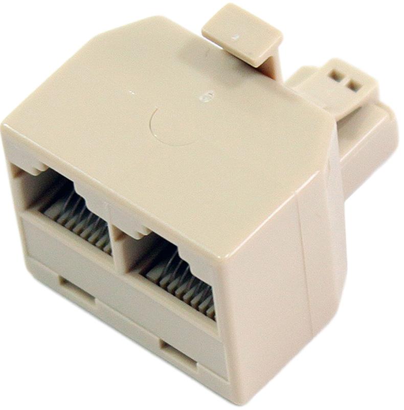 VCOM VTE7714, Beige переходник-разветвитель RJ-45 8P8C-2-8P8C Jack