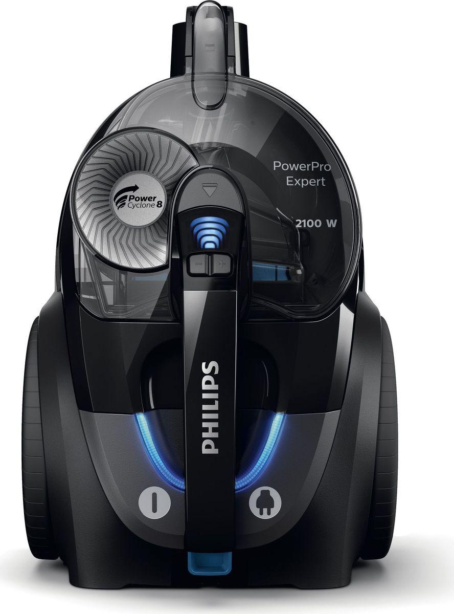 Philips PowerPro Expert FC9732/01, Black пылесосFC9732/01Пылесос Philips PowerPro Expert с высокой силой всасывания создан для невероятно эффективной уборки. 99 %Собирает и удерживает 99% мелкой пыли благодаря высокой мощности всасывания и полной герметичности Allergy Lock. Технология PowerCyclone 8 и наша насадка TriActive + обеспечивают превосходные результаты на любых напольных покрытиях.Насадка TriActive+ приподнимает ворс ковра для тщательной очистки. Воздушные каналы в передней части собирают крупный мусор, а щетки по бокам очищают пол вдоль стен и мебели.Пылесборник можно извлечь одной рукой, а благодаря его уникальной форме и гладкой поверхности пыль легко утилизировать. Благодаря хранению аксессуаров в корпусе насадки всегда под рукой.Как выбрать пылесос. Статья OZON Гид