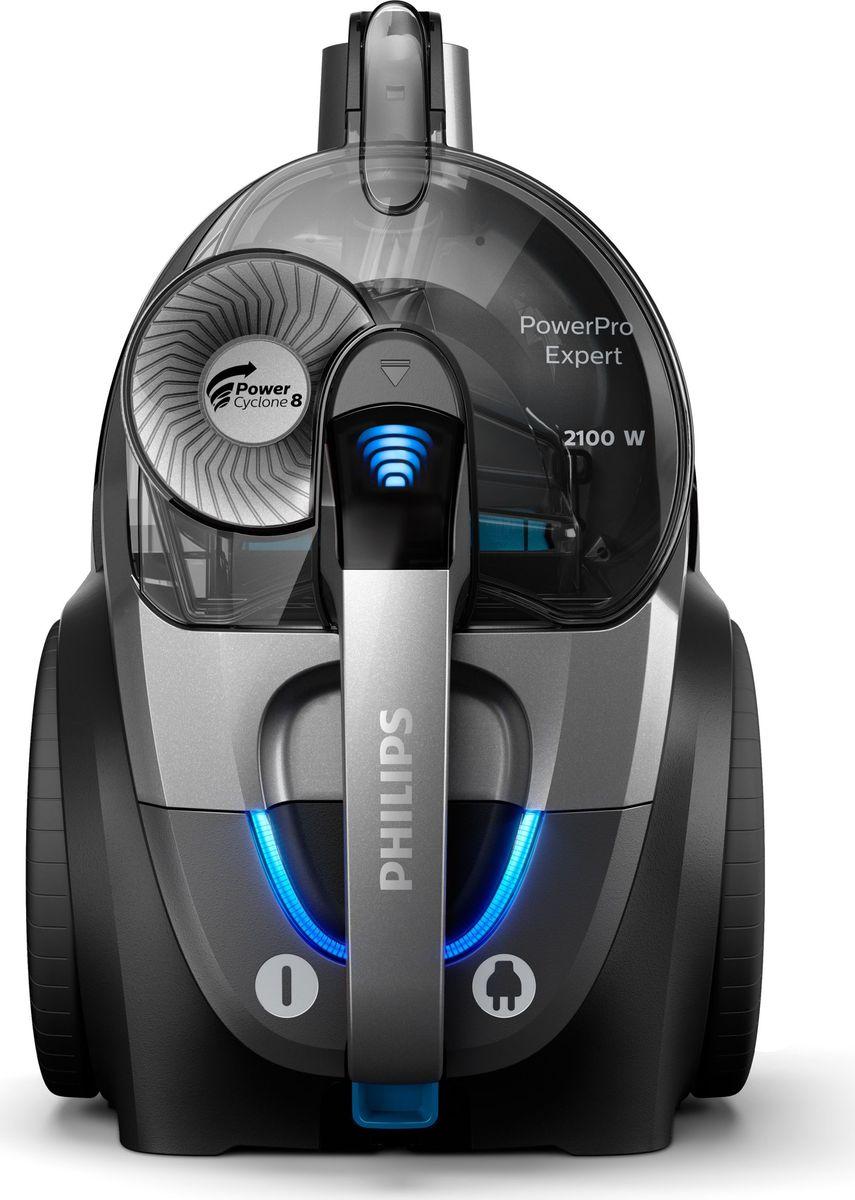 Philips PowerPro Expert FC9735/01, Gray Metallic пылесосFC9735/01Пылесос Philips PowerPro Expert с высокой силой всасывания создан для невероятно эффективной уборки. Собирает и удерживает 99% мелкой пыли благодаря высокой мощности всасывания и полной герметичности Allergy Lock. Технология PowerCyclone 8 и наша насадка TriActive + обеспечивают превосходные результаты на любых напольных покрытиях.Насадка TriActive+ приподнимает ворс ковра для тщательной очистки. Воздушные каналы в передней части собирают крупный мусор, а щетки по бокам очищают пол вдоль стен и мебели. Рукоятка ErgoGrip позволяет легко маневрировать в узких пространствах. С помощью встроенных в нее элементов можно управлять мощностью и с удобством регулировать настройки: не требуется наклоняться, приседать или прерывать уборку.Как выбрать пылесос. Статья OZON Гид