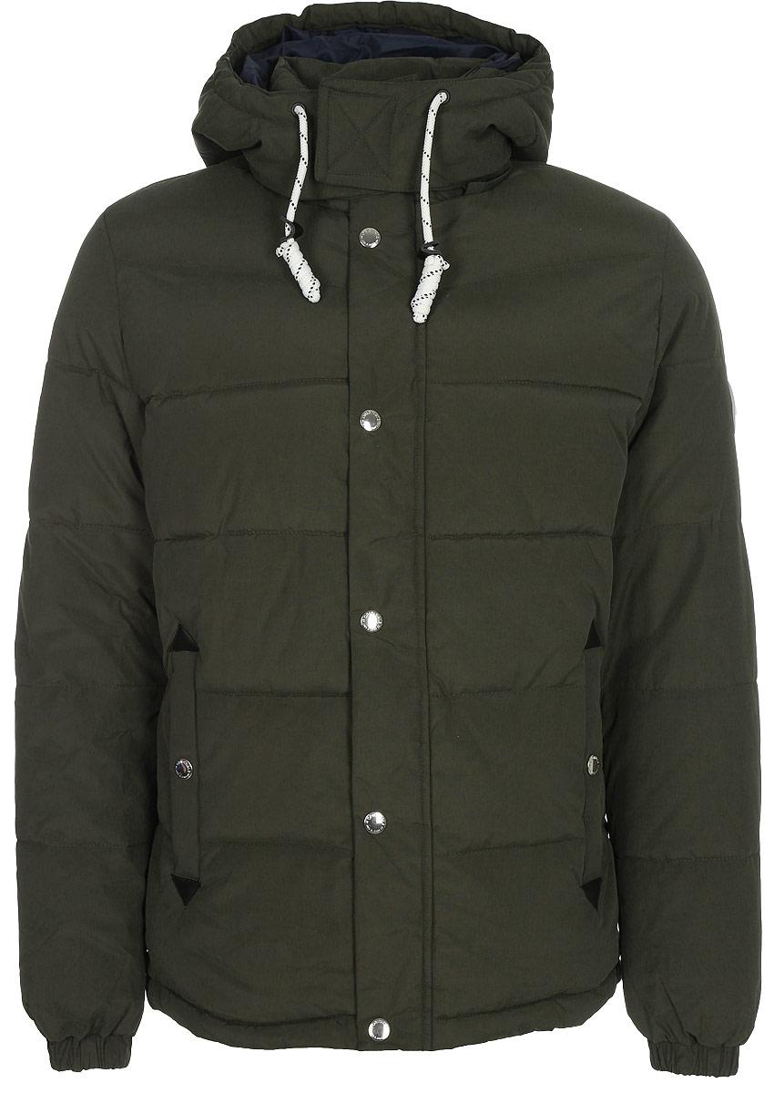 где купить Куртка мужская Jack & Jones, цвет: зеленый. 12123690_Forest Night. Размер XL (52) по лучшей цене