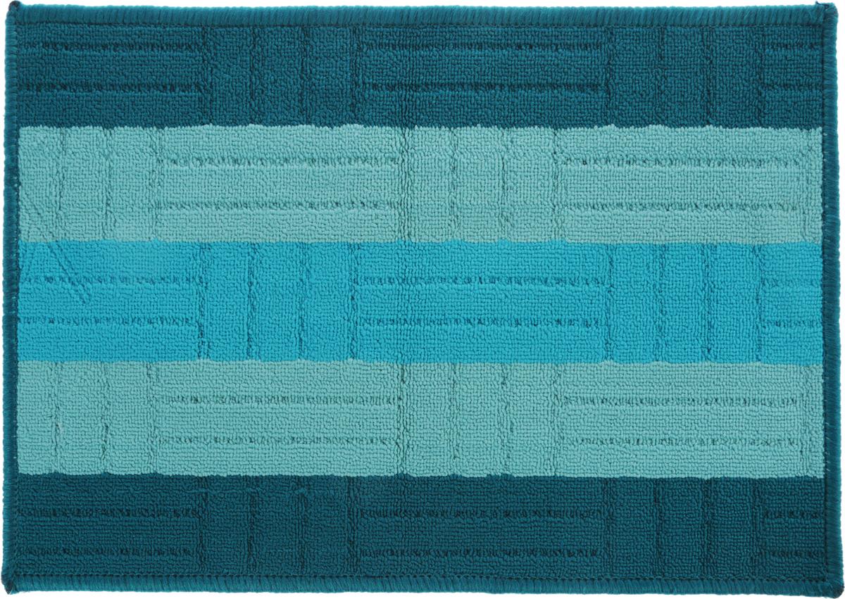 Коврик придверный Vortex Milan, цвет: синий, 40 х 60 см. 22439 коврик дорожка vortex disco основа латекс