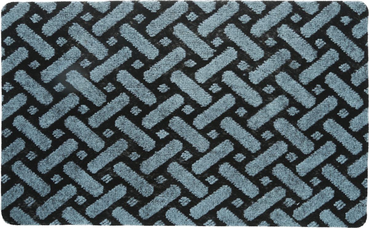 Коврик придверный Vortex Siesta,цвет: черный, голубой, 50 х 80 см. 2239222392_черный, голубойКоврик придверный Vortex Siesta,цвет: черный, голубой, 50 х 80 см. 22392