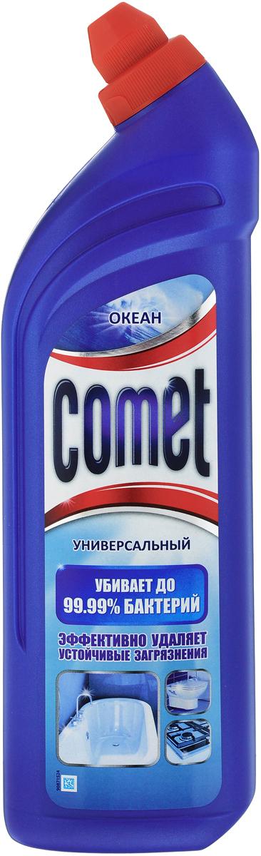 """Универсальный чистящий гель Comet """"Двойной эффект"""", океанский бриз, 1 л"""