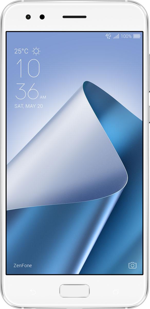 ASUS ZenFone 4 ZE554KL, White (90AZ01K5-M01220)90AZ01K5-M01220ASUS ZenFone 4 ZE554KL - это 5,5-дюймовый смартфон нового поколения с роскошным дизайном, обеспечивающий непревзойденное качество мобильной фотосъемки благодаря системе из двух камер.Основная 12-мегапиксельная камера выполнена на базе сенсора Sony IMX362 с крупными пикселями (1,4 мкм) и имеет объектив с большой апертурой (f/1,8). Светочувствительность данной камеры может быть увеличена до 5 раз, что позволяет делать качественные снимки в условиях низкой освещенности. Вторая камера - широкоугольная.Благодаря 120-градусному полю обзора она идеально подходит для съемки пейзажей, больших компаний, а также фотосъемки в условиях небольших помещений. Переключение между камерами осуществляется моментально, поэтому идеальная композиция для съемки будет найдена за доли секунды.Широкоугольная камера ZenFone 4 имеет поле обзора 120° - это вдвое больше, чем могут обеспечить камеры обычных смартфонов, поэтому в кадре поместится больше деталей пейзажа или большая компания. При съемке в помещении широкоугольный объектив облегчает получение желаемых снимков, особенно в ограниченном пространстве, когда у фотографа просто нет возможности сделать несколько шагов назад, чтобы в кадре поместилось все, что нужно.Система двухпиксельной фазовой автофокусировки задействует 24 миллиона точек фокусировки (две на каждый пиксель) для отслеживания движения объекта съемки всего за 0,03 секунды. Если добавить к этому высокоэффективную систему оптической (OIS) и электронной (EIS) стабилизации изображения, датчик цветокоррекции, а также возможность записи видео в формате 4K UHD, то можно не сомневаться: камера ZenFone 4 гарантирует четкие и качественные фото- и видеоматериалы.В красивом корпусе ZenFone 4 скрываются мощные и энергоэффективные компоненты, включая новейшую мобильную платформу Qualcomm Snapdragon 660/630 и оперативную память объемом до 6 ГБ. Высокую производительность дополняют современные стандарты связи - ZenFone 4 поддержив