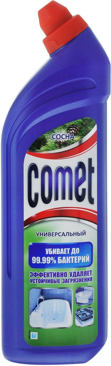 """Универсальный чистящий гель Comet """"Двойной эффект"""", с ароматом сосны, 1 л"""