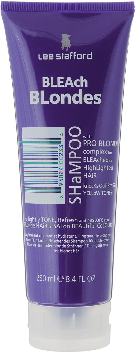 Lee Stafford Шампунь для осветленных волос Bleach Blonde, 250 мл637726200115 Lee Stafford Шампунь для осветленных волос Bleach Blonde Shampoo, 250 мл. Разработанспециально для осветленных волос. Сохраняет цвет и придает волосам платиновый оттенок.Комплекс Pro-Blonde содержит пантенол, экстракты ромашки и семян моринги, которые сохраняютестественный блеск и шелковистость. Предотвращают потерю цвета от воздействия УФ-лучей.Нанесите на влажные волосы, помассируйте голову, хорошо промойте. Использовать не чаще 3раз в неделю.Уважаемые клиенты! Обращаем ваше внимание на то, что упаковка может иметь несколько видов дизайна.Поставка осуществляется в зависимости от наличия на складе.