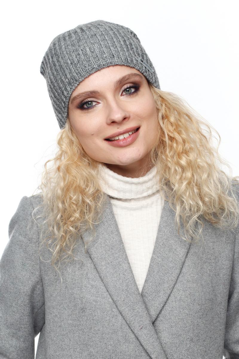 Шапка женская Paccia, цвет: серый. NR-21716-1. Размер 55/58NR-21716-1Вязаная женская шапка Paccia выполнена из акрила с добавлением шерсти. Эта шапка не только согреет в прохладную погоду, но и стильно дополнит ваш образ.