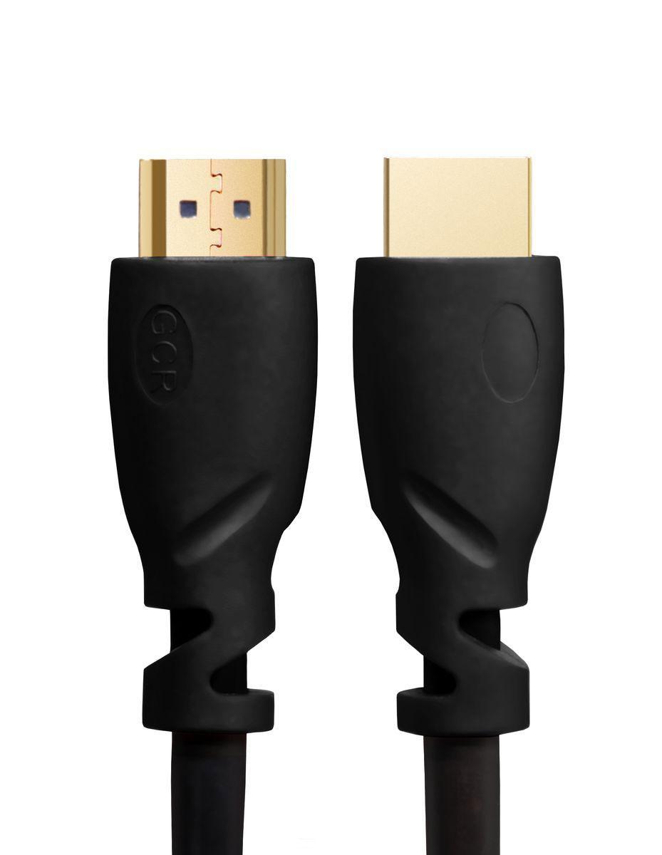 Greenconnect Russia GCR-HM611, Black кабель HDMI v 2.0 (1,5 м)GCR-HM611-1.5mКабель HDMI v 2.0 Greenconnect Russia GCR-HM611 - отличное решение для подключения компьютера, игровых консолей, DVD и Blu-ray плееров, аудио-ресиверов к телевизору или дополнительному монитору. Кабель HDMI поддерживает как стандартные, так и высокие разрешения самых современных моделей телевизоров.Greenconnect Russia GCR-HM611 поддерживает Ultra HD 4K (3840x2160), Full 4K (4096x2160), Full HD (1920x1080) и HD Ready (1280x720). Это даёт возможность наслаждаться более точной и естественной картинкой с высочайшим уровнем детализации и диапазоном цветов. Использование кабеля позволяет передавать изображение в столь популярном формате 3D, усиливая элемент присутствия и позволяя получать удовольствие от качественного объёмного изображения.Кабель оснащен двунаправленным каналом для передачи сетевых данных, который подходит для использования IP-приложениями. Канал Ethernet позволяет нескольким устройствам работать в сети Ethernet без необходимости подключения дополнительных проводов, а также напрямую обмениваться контентом. Наличие обратного канала аудио устраняет необходимость в отдельном проводе для передачи звука в ресивер с телевизора или другого устройства, которое является одновременно источником аудио и видео.Максимальная скорость передачи данных по HDMI кабелю Greenconnect Russia GCR-HM611 до 18,0 Гбит/с. Высокая скорость обеспечивает передачу больших объёмов данных за кратчайшее время. Позволяет передавать данные в онлайн режиме без потери качества. Экранирование кабеля защищает сигнал при передаче от влияния внешних полей, способных создать помехи.
