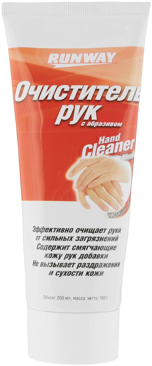 Очиститель рук Runway, с абразивом, 200 млRW1469Очиститель рук с абразивом Runway - универсальное средство, предназначенное для эффективной очистки рук от сильных загрязнений: нефтепродуктов, масел, смазок, жиров, грязи. Содержит смягчающие кожу рук добавки. Не вызывает раздражения и сухости кожи. Товар сертифицирован. Уважаемые клиенты! Обращаем ваше внимание на возможные изменения в дизайне упаковки. Качественные характеристики товара остаются неизменными. Поставка осуществляется в зависимости от наличия на складе.