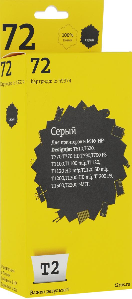 T2 IC-H9374 картридж для HP Designjet T610/T620/T770/T790/T1100/T1200/T1300/T2300 (№72), GreyIC-H9374Картридж T2 IC-H9370/9371/9372/9373/9374 с чернилами для струйных принтеров и МФУ HP. Картридж собран из качественных комплектующих и протестирован по стандарту ISO.