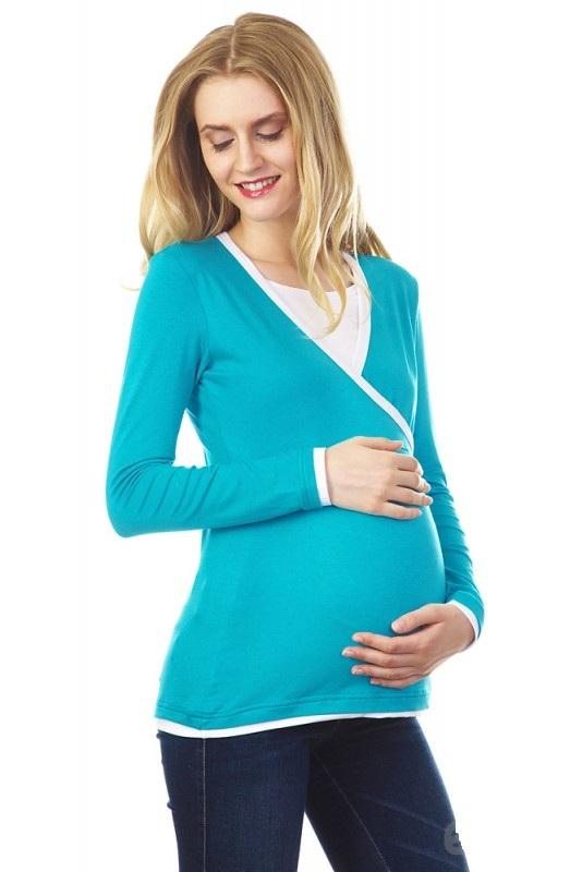 Блузка для беременных и кормящих Mums Era Гармония, цвет: бирюзовый. 8405. Размер L (50)8405Блуза для беременных и кормящих мам, отлично подойдет для жаркой погоды и теплых помещений. Благодаря натуральным материалам в ней удобно заниматься активными видами деятельности: прогулками с малышом, спортом, домашними делами. Дополненная стильными аксессуарами, она станет незаменимой деталью вашего гардероба.