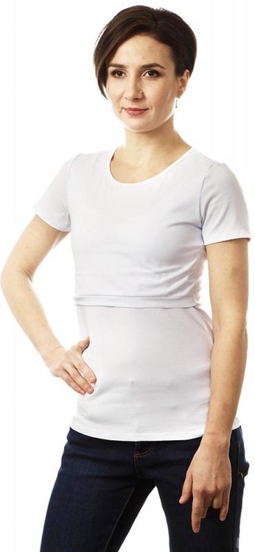 Футболка для беременных и кормящих Mum's Era Basic, цвет: белый. 34666. Размер M (46/48) костюмы fest комплект для беременных и кормящих