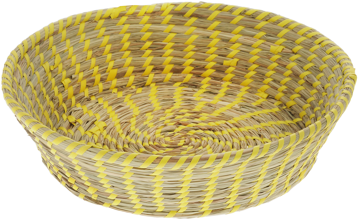 Корзина Zeller, цвет: бежевый, желтый, диаметр 33 см18031_бежевыйКруглая корзина Zeller изготовлена из натурального плетеного волокна. Она предназначена для хранения фруктов, хлеба, а также мелочей дома или на даче. Позволяет хранить мелкие вещи, исключая возможность их потери. Корзина очень вместительная. Элегантный выдержанный дизайн позволяет органично вписаться в ваш интерьер и стать его элементом.Материал: натуральное волокно.Диаметр: 33 см.Высота: 10 см.
