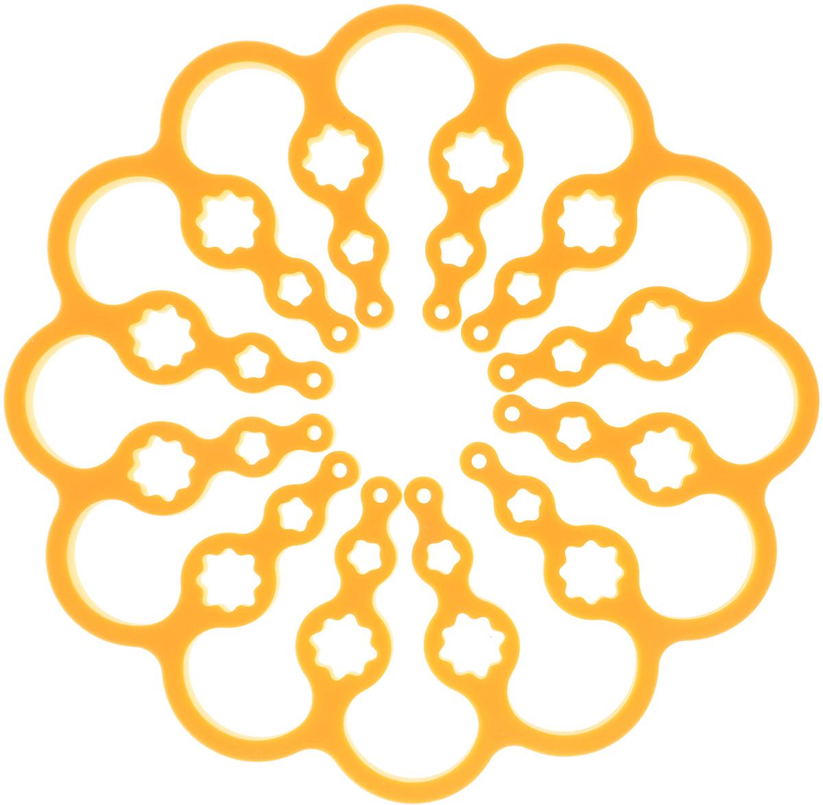Подставка под горячее Attribute, цвет: темно-желтый, диаметр 15 / 26 смAAS001_темно-желтыйУникальная форма подставки под горячее Attribute (в сложенном виде диаметр составляет - 15 см, в развернутом - 26 см) позволяет использовать ее для посуды разных размеров. Подставка защитит поверхность стола от высоких температур и влаги.