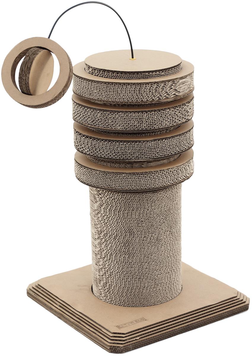Когтеточка Petsweet. PCT-2360PCT-2360Стильная когтеточка Petsweet поможет сохранить мебель и ковры в доме от когтей вашего любимца, стремящегося удовлетворить свою естественную потребность точить когти. Когтеточка изготовлена из качественного картона. Товар продуман в мельчайших деталях и, несомненно, понравится вашей кошке. Когтеточка закрепляется на квадратном основании и представляет собой вертикальный тубус. Верх когтеточки дополняется съемными кольцами и оригинальной игрушкой.Всем кошкам необходимо стачивать когти. Когтеточка - один из самых необходимых аксессуаров для кошки. Для приучения к когтеточке можно натереть ее сухой валерьянкой или кошачьей мятой. Общая высота когтеточки: 63 см. Диаметр вертикальной когтеточки: 21 см. Диаметр широких кругов: 26,5 см. Длина верхней игрушки: 51,5 см. Размер основания: 39 x 39 x 4 см.