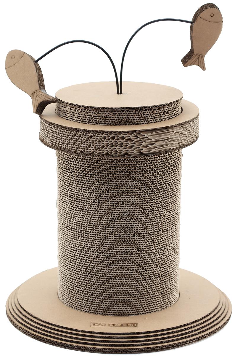 Когтеточка Petsweet, 40 x 39 см. PCT-2391PCT-2391Стильная когтеточка Petsweet поможет сохранить мебель и ковры в доме от когтей вашего любимца, стремящегося удовлетворить свою естественную потребность точить когти. Когтеточка изготовлена из качественного картона. Товар продуман в мельчайших деталях и, несомненно, понравится вашей кошке. Когтеточка выполнена на круглом основании. Верхушка изделия дополнена двумя игрушками-рыбками из картона.Всем кошкам необходимо стачивать когти. Когтеточка - один из самых необходимых аксессуаров для кошки. Для приучения к когтеточке можно натереть ее сухой валерьянкой или кошачьей мятой. Размер когтеточки: 40 x 39 см.