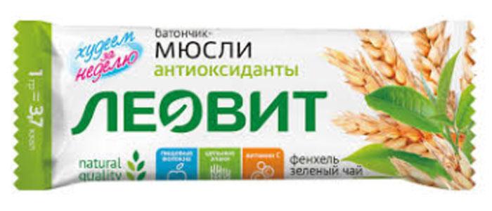 БиоСлимика Батончик-мюсли с фенхелем и зеленым чаем, 30 г