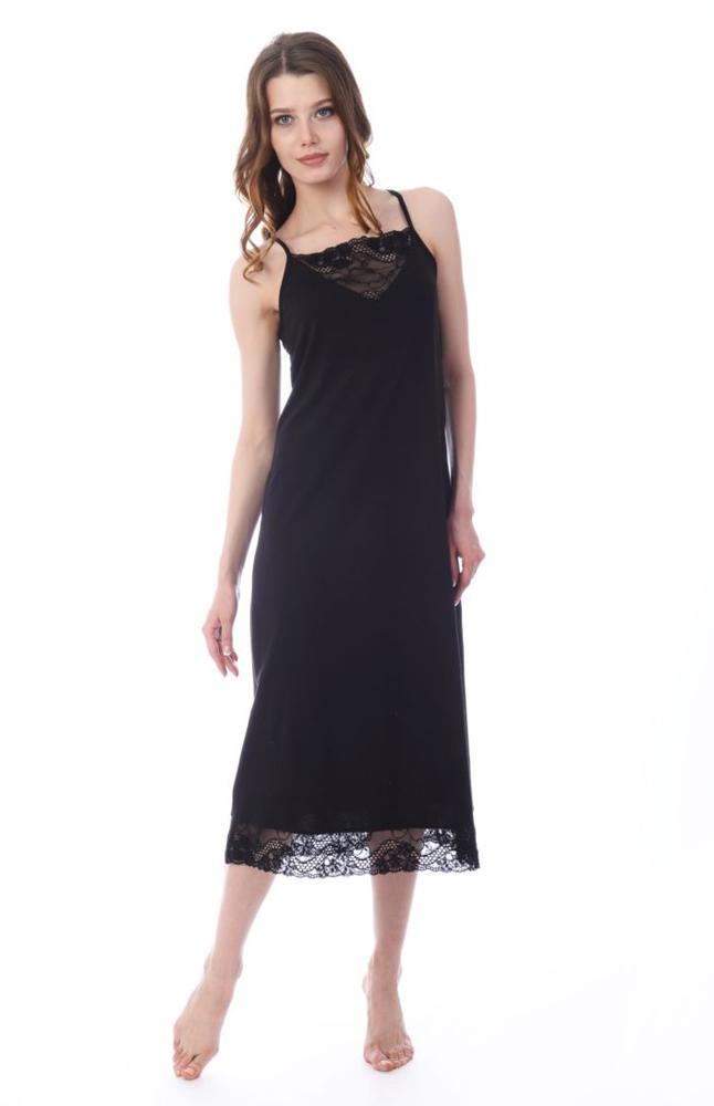Платье домашнее Melado Астрид, цвет: черный. MO2869/01. Размер 50 платья melado платье камея