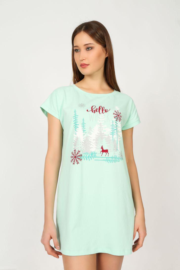 Платье домашнее Melado Герда, цвет: бирюзовый. ML2630/02. Размер 48 платье домашнее melado вивьен цвет бежевый ml2170 01 размер 48