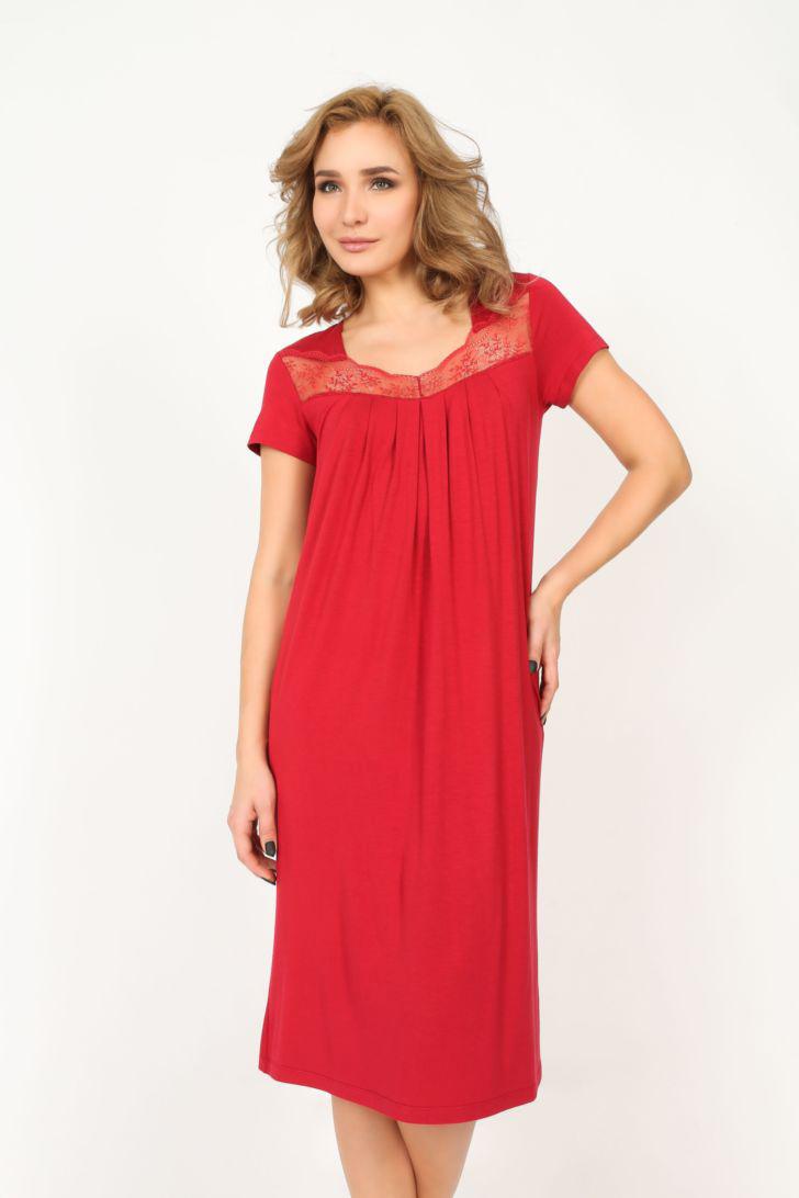 Платье домашнее Melado Реверанс, цвет: красный. MO2776/01. Размер 48 платья melado платье камея