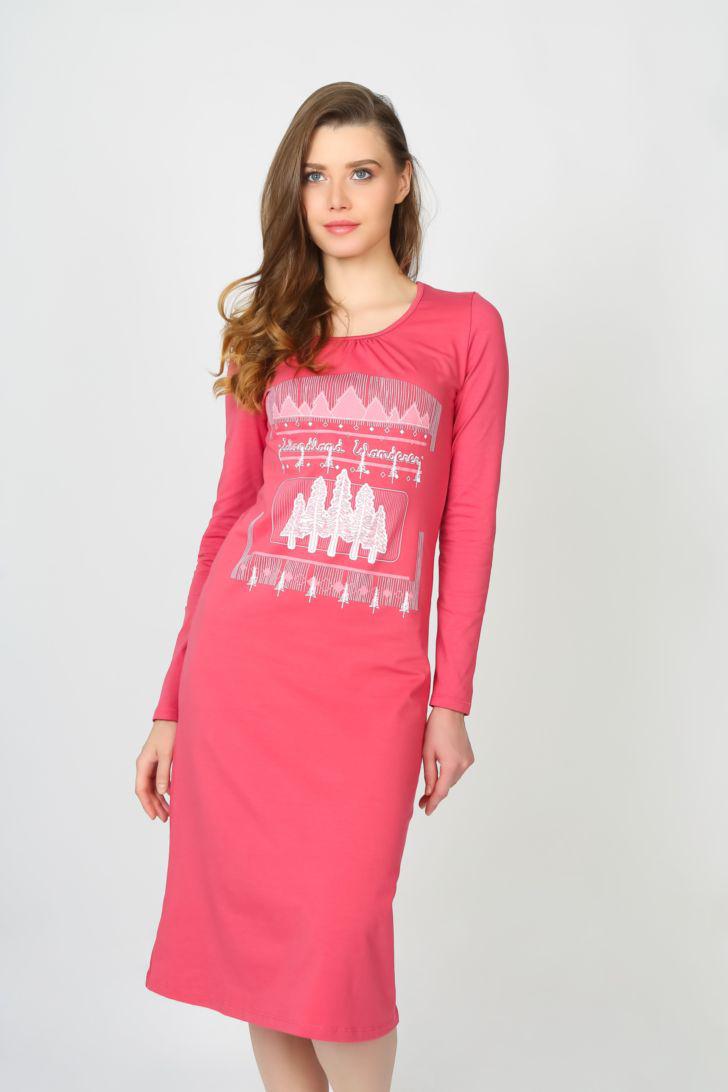Платье домашнее Melado Шале, цвет: розовый. ML2821/01. Размер 52 платье домашнее melado вивьен цвет бежевый ml2170 01 размер 48