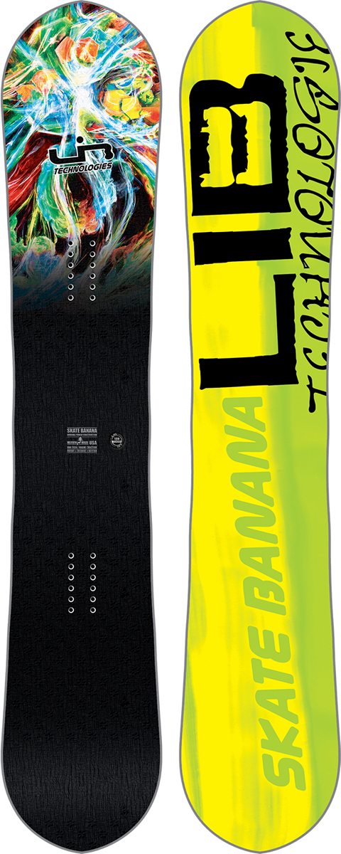 Сноуборд мужской LibTech SK8 Banana BTX, цвет: желтый, черный. Ростовка 145 см сноуборд prime inspiration 145 fw17