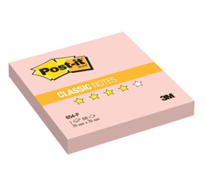 Бумага для заметок Post-it, с липким слоем, цвет: розовый,100 листов654-P-RUБумага для заметок Post-it прекрасно подойдет для записи номеров телефонов, адресов, напоминания о важной встрече или внезапно пришедшей полезной мысли.Бумагу можно наклеивать на любую гладкую поверхность, без опасения оставить след от клея.Блок содержит 100 листов из бумаги розового цвета. Характеристики:Размер листа: 7,6 см х 7,6 см. Количество: 100 листов.
