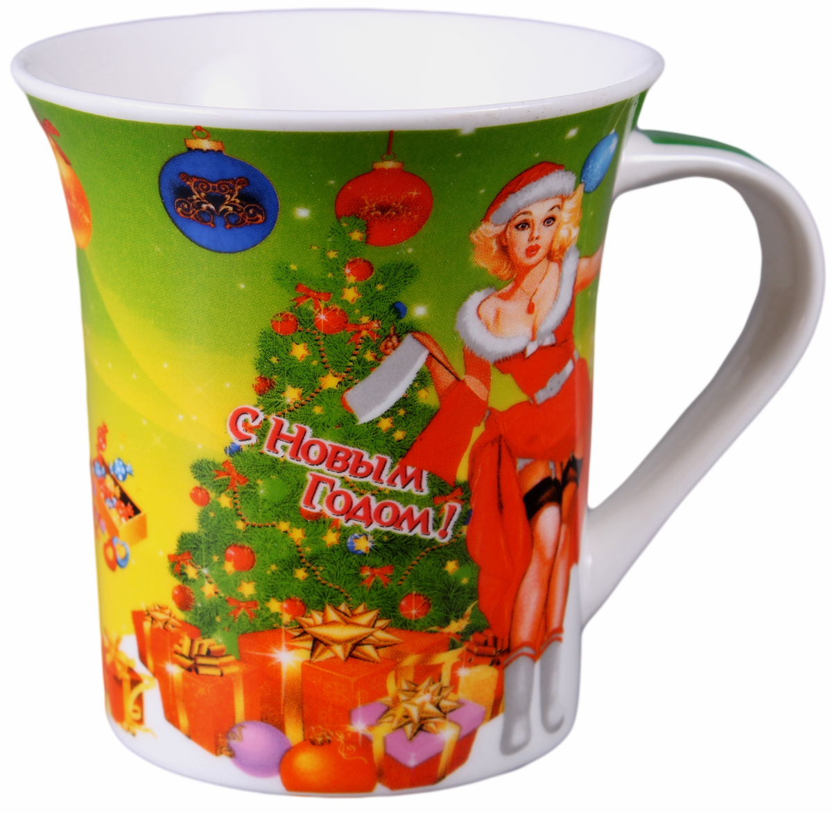 Кружка Olaff, новогодняя, 310 мл. EDI-B310K-016EDI-B310K-016Кружка 310 мл новогодняя обертовая 4 вида декора, индивидуальная подарочная упаковка