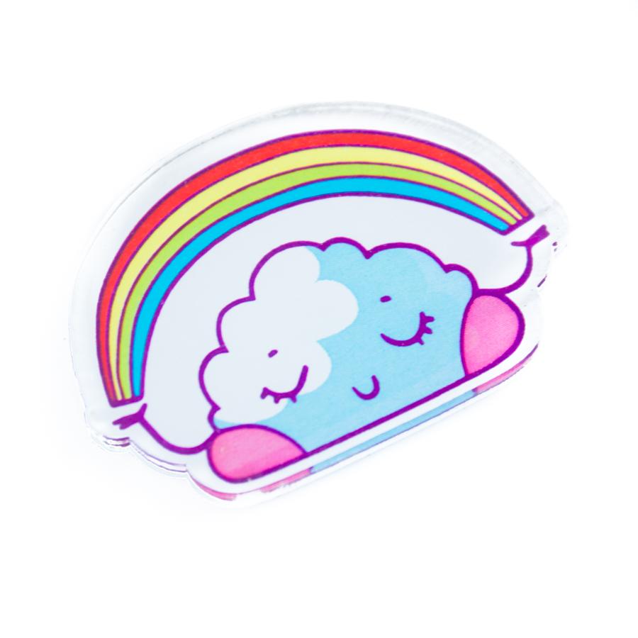 Брошь Markov.Design Облачко1113121003Яркий значок в виде загадочного облачка, держащего в руках радугу. Милая брошь Облачко — отличный повод добавить в повседневный образ радужных цветов!Креативная брошь Облачко из прозрачного акрила одновременно похожа на сладкий леденец и мягкую пухлую тучку! Такой значок непременно добавит хорошего настроения в твой повседневный образ, ведь позитивных и радостных эмоций никогда не бывает много! Кстати, стоит подумать о том, чтобы подарить немного облачной мимимишности, которой пропитан этот значок, своим друзьям!