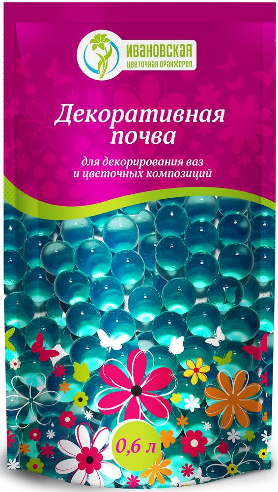 Гидрогель шарики Цветочная оранжерея Ивановская, цвет: зеленый, 600 мл7s-0008_зеленыйДекоративная почва-гель для срезанных цветов, для декорации. Полностью готовый продукт.