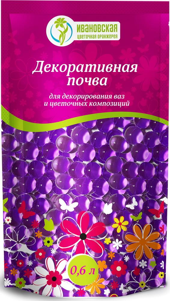 Гидрогель шарики Цветочная оранжерея Ивановская, цвет: фиолетовый, 600 млbiud0046Декоративная почва-гель для срезанных цветов, для декорации. Полностью готовый продукт.