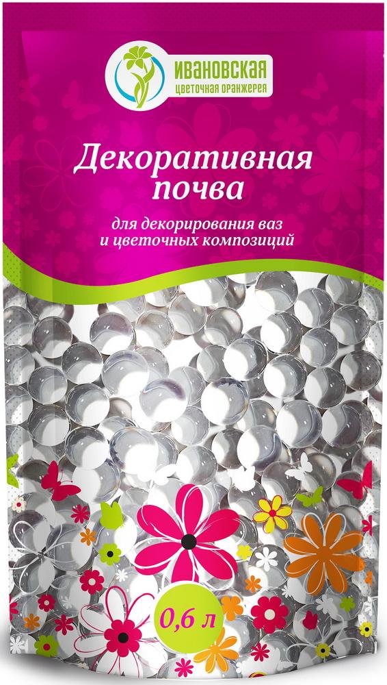 Гидрогель шарики Цветочная оранжерея Ивановская, цвет: прозрачный, 600 мл7s-0008_прозрачныйДекоративная почва-гель для срезанных цветов, для декорации. Полностью готовый продукт.