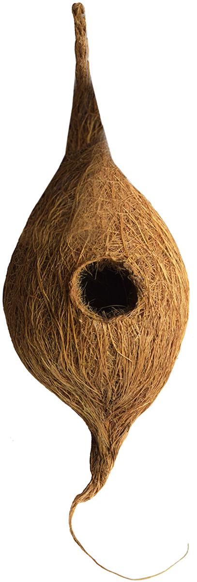 """Птичье гнездо """"Fibre Family"""" из кокосового волокна предназначено для комфортного и безопасного гнездования мелких птиц и укрытия их от не погоды."""