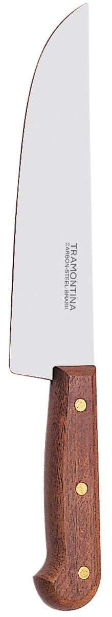 Нож поварской Tramontina Carbon, длина лезвия 22,5 см. 22952/009-TR22952/009-TRДля изготовления лезвия используется углеродистая сталь SAE 1070 с содержанием углерода 0,7%, что говорит о балансе в стали ножа феррита и перлита.Благодаря уникальному методу закалки в несколько этапов (термическая закалка, охлаждение, промораживание, нагревание газом) сталь SAE 1070 приобретает особую гибкость и твердость, позволяющую сохранять остроту лезвия в течение продолжительного времени при высоких интенсивных нагрузках.Рукоятки серия Carbon выполнены из натурального дерева.Гарантия от производственного брака на ножи серии Carbon 3 года!Материал лезвия: углеродистая сталь SAE 1070Материал рукоятки: деревоДлина лезвия: 22,5 смСтрана производства: Бразилия