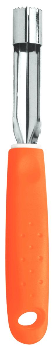 Нож для вырезания сердцевины яблок Tramontina Utilita, цвет: оранжевый25621/140-TRСерия кухонных аксессуаров Utilita подходит для любителей современного дизайна и ярких красочных цветов.Рабочая часть изготовлена из нержавеющая стали AISI 420, благодаря уникальному методу закалки в несколько этапов (термическая закалка, охлаждение, промораживание, нагревание газом) сталь приобретает особую пластичность, корозийно и жаростойкость, сохраняя твердость порядка 53 единиц по шкале Роквелла.Благодаря толстой стали и надёжному креплению к рукоятке нож прослужит долгие годы.Материал лезвия: нержавеющая сталь AISI 420Материал рукоятки: полипропиленДлина лезвия: 7,5 смПетля для подвешивания: даМожно мыть в посудомоечной машине: даСтрана производства: Бразилия