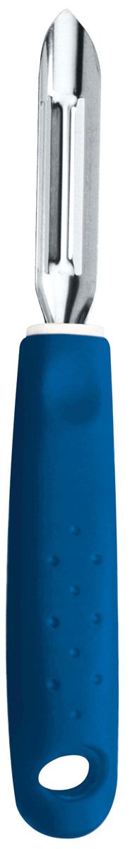 Фрукто-овощечистка Tramontina Utilita, цвет: синий25627/110-TRСерия кухонных аксессуаров Utilita подходит для любителей современного дизайна и ярких красочных цветов.Рабочая часть изготовлена из нержавеющая стали AISI 420, благодаря уникальному методу закалки в несколько этапов (термическая закалка, охлаждение, промораживание, нагревание газом) сталь приобретает особую пластичность, корозийно и жаростойкость, сохраняя твердость порядка 53 единиц по шкале Роквелла.Благодаря толстой стали и надёжному креплению к рукоятке нож прослужит долгие годы.Материал лезвия: нержавеющая сталь AISI 420Материал рукоятки: полипропиленПетля для подвешивания: даМожно мыть в посудомоечной машине: даСтрана производства: Бразилия