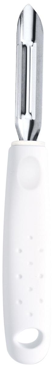 Фрукто-овощечистка Tramontina Utilita, цвет: белый25627/180-TRСерия кухонных аксессуаров Utilita подходит для любителей современного дизайна и ярких красочных цветов.Рабочая часть изготовлена из нержавеющая стали AISI 420, благодаря уникальному методу закалки в несколько этапов (термическая закалка, охлаждение, промораживание, нагревание газом) сталь приобретает особую пластичность, корозийно и жаростойкость, сохраняя твердость порядка 53 единиц по шкале Роквелла.Благодаря толстой стали и надёжному креплению к рукоятке нож прослужит долгие годы.Материал лезвия: нержавеющая сталь AISI 420Материал рукоятки: полипропиленПетля для подвешивания: даМожно мыть в посудомоечной машине: даСтрана производства: Бразилия