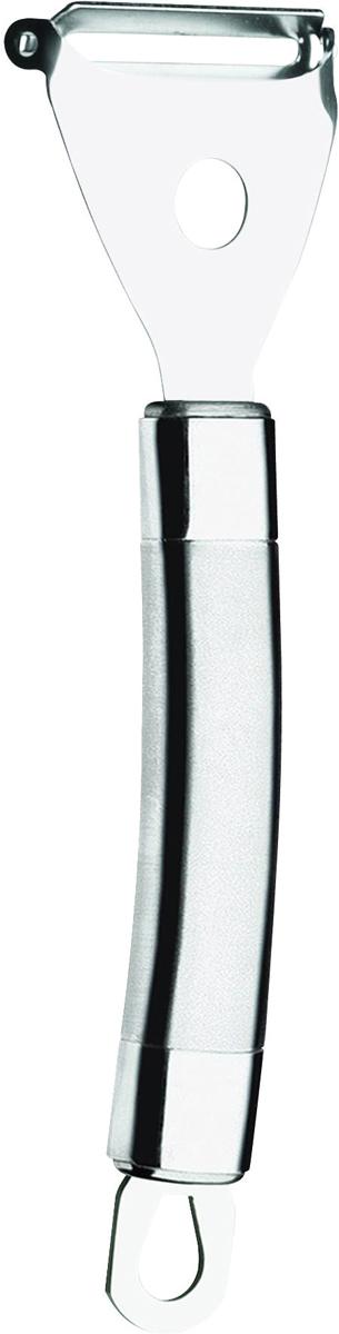 Фрукто-овощечистка Tramontina Speciale, цвет: черный25707/100-TRСерия кухонных аксессуаров Speciale подходит для любителей современного городского стиля.Изготовлен из нержавеющая стали AISI 420, благодаря уникальному методу закалки в несколько этапов (термическая закалка, охлаждение, промораживание, нагревание газом) сталь приобретает особую пластичность, корозийно и жаростойкость, сохраняя твердость порядка 53 единиц по шкале Роквелла.Ручка из нержавеющей стали AISI 304 с повышенным содержанием хрома и никеля, используемой чаще в изделиях высшего уровня. Заполненная внутренняя часть обеспечивает отличное равновесие.Благодаря толстой стали и надёжному креплению к рукоятке нож прослужит долгие годы.Комбинированная полировка: средняя часть матовая, края с зеркальной полировкой.Материал лезвия: нержавеющая сталь AISI 420Материал рукоятки: нержавеющая сталь AISI 304Петля для подвешивания: даМожно мыть в посудомоечной машине: даСтрана производства: Бразилия