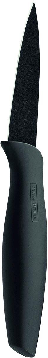 Нож для очистки овощей Tramontina Onix, цвет: черный, длина лезвия 7,5 см23821/063-TRНожи серии Onix изготовлены из высокоуглеродистой нержавеющей стали DIN1.4110 с добавлением молибдена с твердостью стали порядка 58 единиц по шкале Роквелла обладают большой режущей силой. Благодаря уникальному методу закалки в несколько этапов:- термическая закалка от + 850°C до + 1 060°C; - охлаждение системой вентиляции до +350°C; - промораживание при -80°C в течение 30 минут; - нагревание газом от +250°C до +310°C сталь приобретает особую пластичность, коррозийно и жаростойкость, сохраняя твердость порядка 58 единиц по шкале Роквелла. Как результат, ножи TRAMONTINA требуют более редкой правки и заточки, что обеспечивает более долгий срок службы по сравнению с ножами из аналогичной стали других производителей.Лезвие ножа покрыто материалом Starflon High Perfomance (4 слоя на керамической основе), защищающим от окисления, облегчающим чистку и способствующим скольжению.Прорезиненная рукоятка с противоскользящей поверхностью не требует сильного нажима, обладает отличной эргономикой, обеспечивает легкость в обращении. Антибактериальная защита Microban , препятствует образованию неприятного запаха и пятен, вызванных бактериями, плесневым грибком и налетом, сохраняет свои свойства даже в случае механического повреждения 24 часа в сутки.Индивидуальная подарочная упаковка.Материал лезвия: высокоуглеродистая нержавеющая сталь DIN 1.4110 с добавлением молибденаМатериал рукоятки: высококачественная резина c противомикробной защитой Microban Длина лезвия: 7,5 смМожно мыть в посудомоечной машине: даСтрана производства: Бразилия