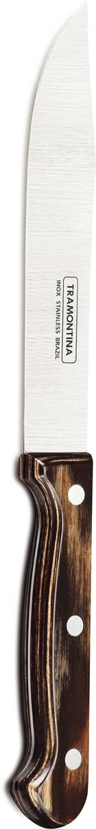 "Нож для мяса Tramontina ""Polywood"", цвет: коричневый, длина лезвия 15 см. 21126/196-TR"