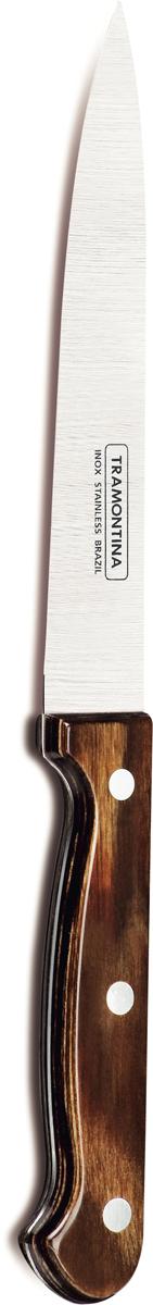 "Нож для мяса Tramontina ""Polywood"", цвет: коричневый, длина лезвия 15 см. 21139/196-TR"