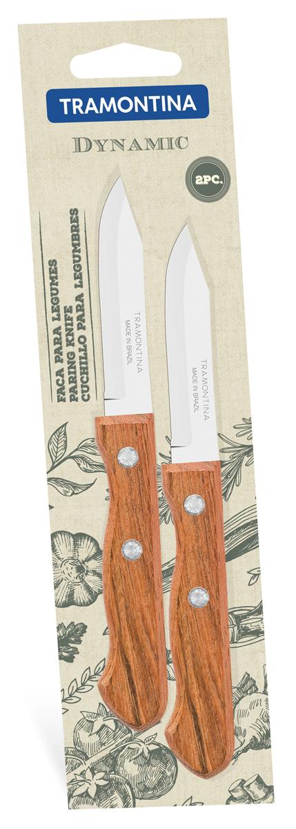 Набор ножей для очистки овощей Tramontina Dynamic, длина лезвия 7,5 см, 2 шт u7 широкий браслет часов реального позолоченные моды мужчин украшения оптовой новой модной уникальный 1 5 см 20 см звено цепи браслеты