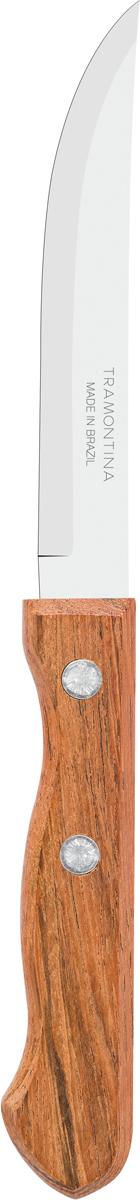 Нож для мяса Tramontina Dynamic, длина лезвия 10 см, 2 шт22320/204-TRБлагодаря уникальному методу закалки в несколько этапов:- термическая закалка от + 850°C до + 1 060°C; - охлаждение системой вентиляции до +350°C; - промораживание при -80°C в течение 30 минут; - нагревание газом от +250°C до +310°C сталь приобретает особую пластичность, коррозийно и жаростойкость, сохраняя твердость порядка 53 единиц по шкале Роквелла. Как результат, ножи TRAMONTINA требуют более редкой правки и заточки, что обеспечивает более долгий срок службы по сравнению с ножами из аналогичной стали других производителей. Рукоятки серии Dynamic выполнены из натурального дерева. Гарантия от производственного брака на ножи серии Dynamic 3 года!Материал лезвия: нержавеющая сталь AISI 420Материал рукоятки: деревоДлина лезвия: 10 смКоличество ножей: 2 штСтрана производства: Бразилия