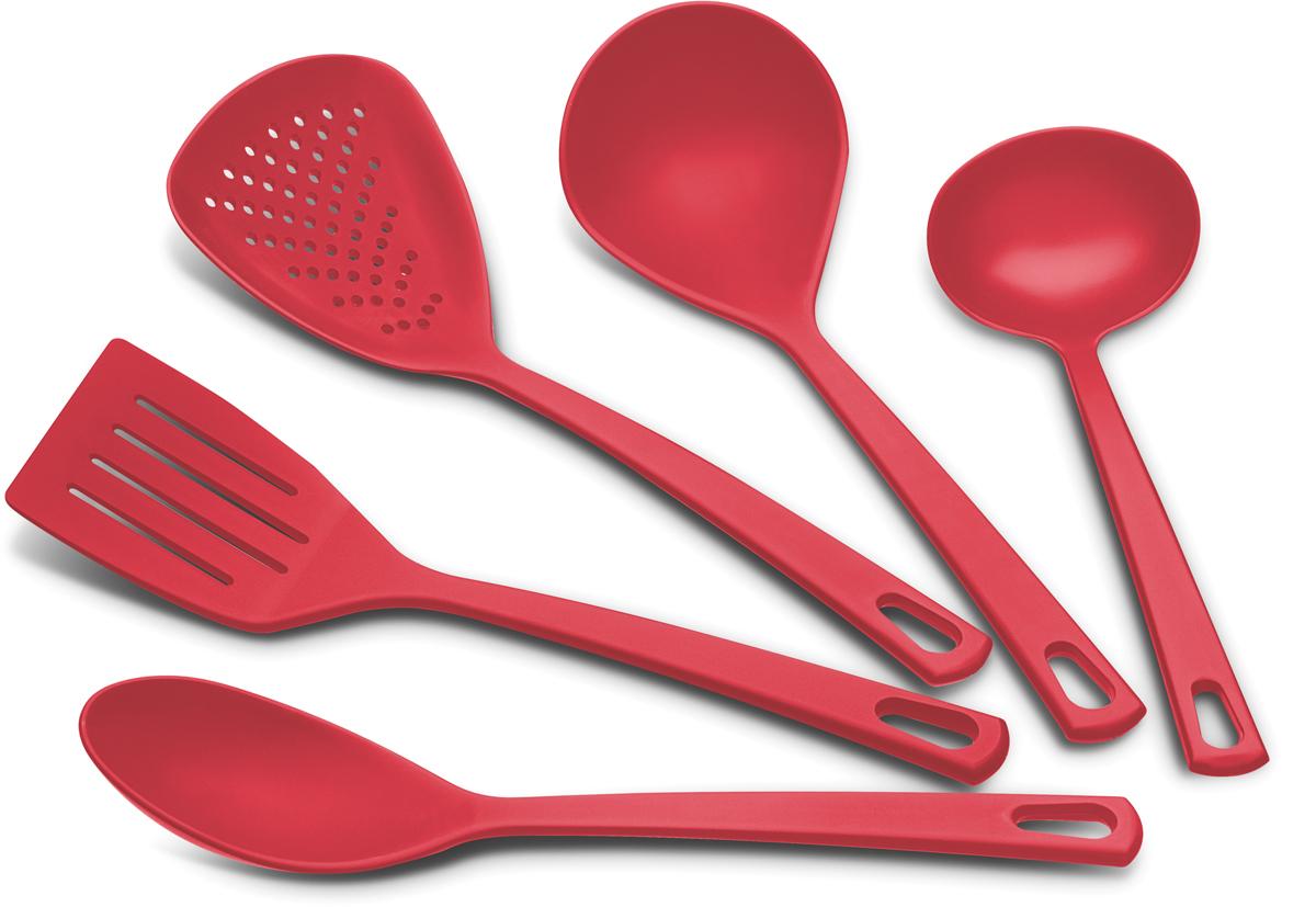 Набор кухонный Tramontina Utilita, цвет: красный, 5 предметов