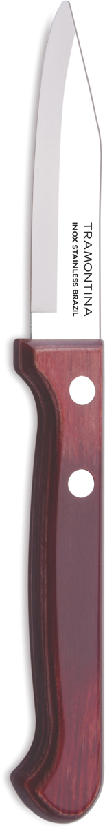 Нож для очистки овощей Tramontina Polywood, цвет: коричневый, красный, длина лезвия 7,5 см21118/973-TRБлагодаря уникальному методу закалки в несколько этапов:- термическая закалка от + 850°C до + 1 060°C; - охлаждение системой вентиляции до +350°C; - промораживание при -80°C в течение 30 минут; - нагревание газом от +250°C до +310°C сталь приобретает особую пластичность, коррозийно и жаростойкость, сохраняя твердость порядка 53 единиц по шкале Роквелла. Как результат, ножи TRAMONTINA требуют более редкой правки и заточки, что обеспечивает более долгий срок службы по сравнению с ножами из аналогичной стали других производителей. Рукоятки серии Polywood выполнены из натурального дерева - тонкого букового шпона, пропитанного смолой и клеем, запрессованного при температуре 150°C. Подобная технология изготовления рукоятки позволяет мыть ножи в посудомоечной машине. Гарантия от производственного брака на ножи серии Polywood 5 лет!Материал лезвия: нержавеющая сталь AISI 420Материал рукоятки: деревоДлина лезвия: 7,5 смМожно мыть в посудомоечной машине: даСтрана производства: Бразилия