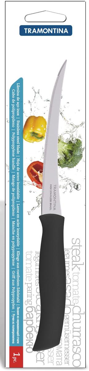 """Нож для очистки овощей и фруктов Tramontina """"Athus"""", цвет: черный, длина лезвия 12,5 см. 23088/905-TR"""