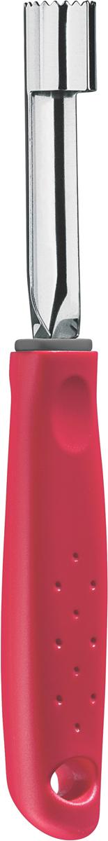 Нож для вырезания сердцевины яблок Tramontina Utilita, цвет: красный25621/170-TRСерия кухонных аксессуаров Utilita подходит для любителей современного дизайна и ярких красочных цветов.Рабочая часть изготовлена из нержавеющая стали AISI 420, благодаря уникальному методу закалки в несколько этапов (термическая закалка, охлаждение, промораживание, нагревание газом) сталь приобретает особую пластичность, корозийно и жаростойкость, сохраняя твердость порядка 53 единиц по шкале Роквелла.Благодаря толстой стали и надёжному креплению к рукоятке нож прослужит долгие годы.Материал лезвия: нержавеющая сталь AISI 420Материал рукоятки: полипропиленДлина лезвия: 7,5 смПетля для подвешивания: даМожно мыть в посудомоечной машине: даСтрана производства: Бразилия
